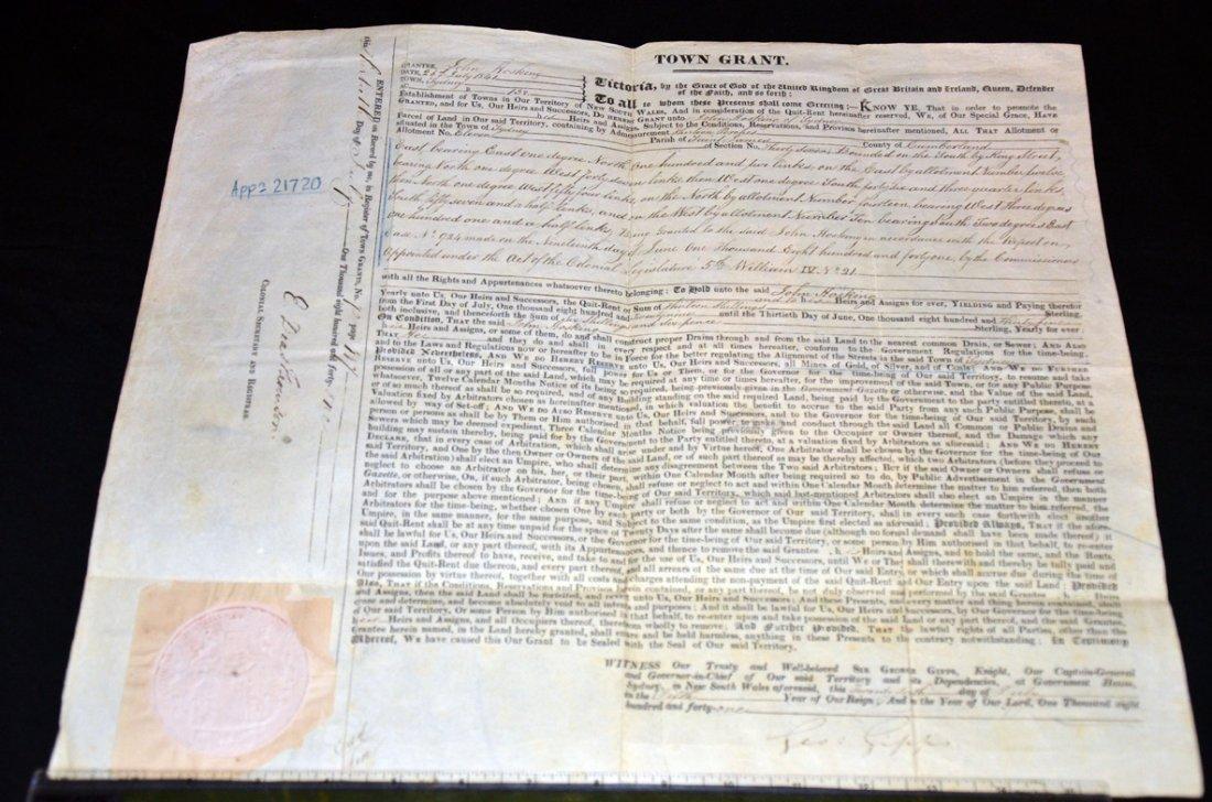 256: Land Grant   King St Sydney Signed by Governor Gip