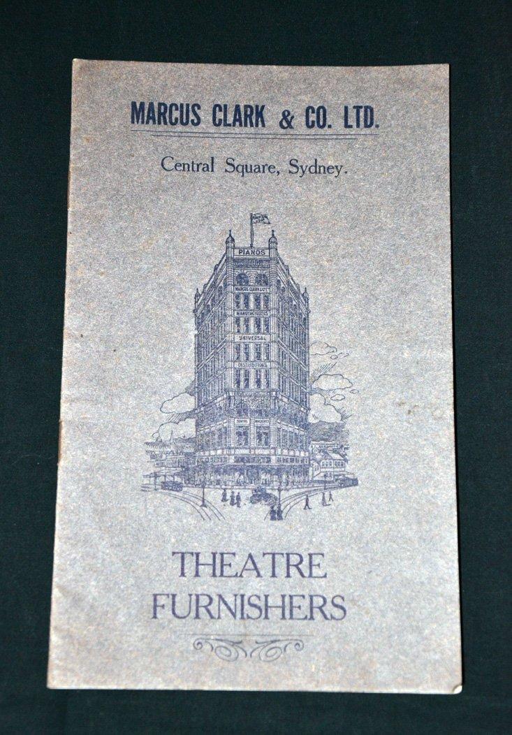 261: Catalogue of Theatre Furnishings Marcus Clark