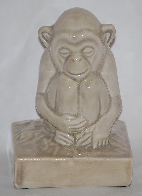 21: Rookwood Pottery 1985 Monkey Bookend