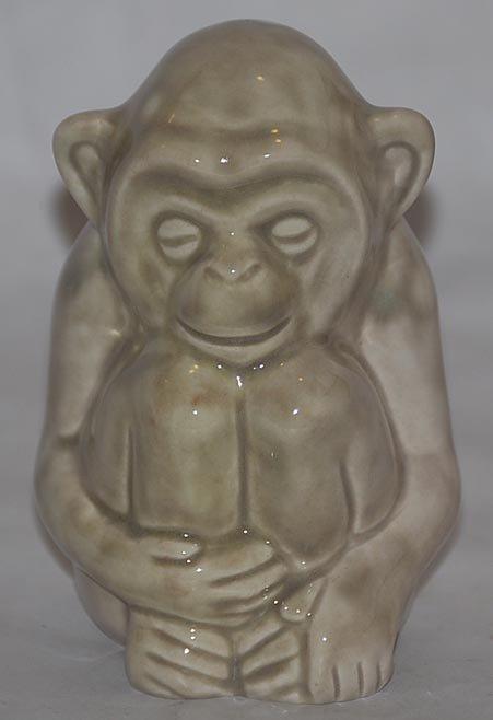 22: Rookwood Pottery 1985 Monkey Paperweight Shape 6084