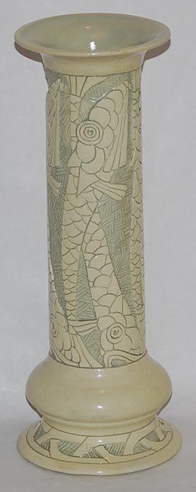 28: Roseville Pottery Della Robbia Vase D7