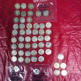 53 Silver Dimes