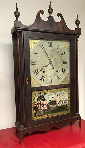 Ephraim Downes Pillar and Scroll Clock