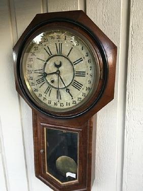 Ansonia Regulator A Calendar Clock