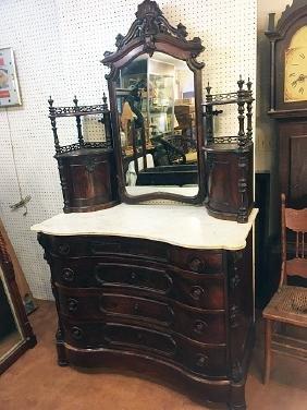 Rosewood Rococo Ladies Dresser