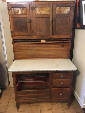 Vintage Sellers Hoosier Kitchen Cabinet