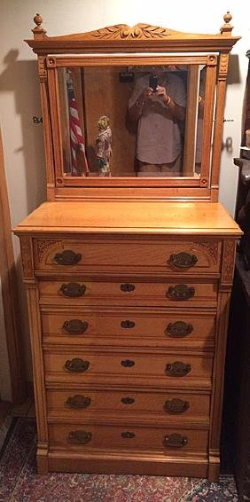 Victorian Oak Gentlemen's Chest