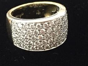 18kt Gold Diamond Ladies Dinner Ring