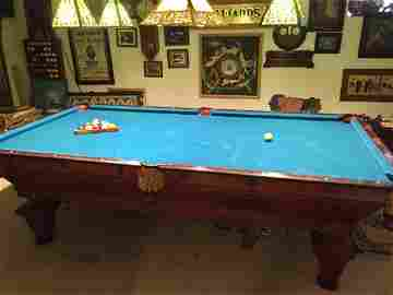 Vintage Brunswick Balke Collender Co. Pool Table
