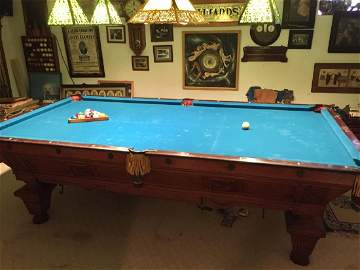 Vintage Brunswick Balke Collender Co. Pool Table