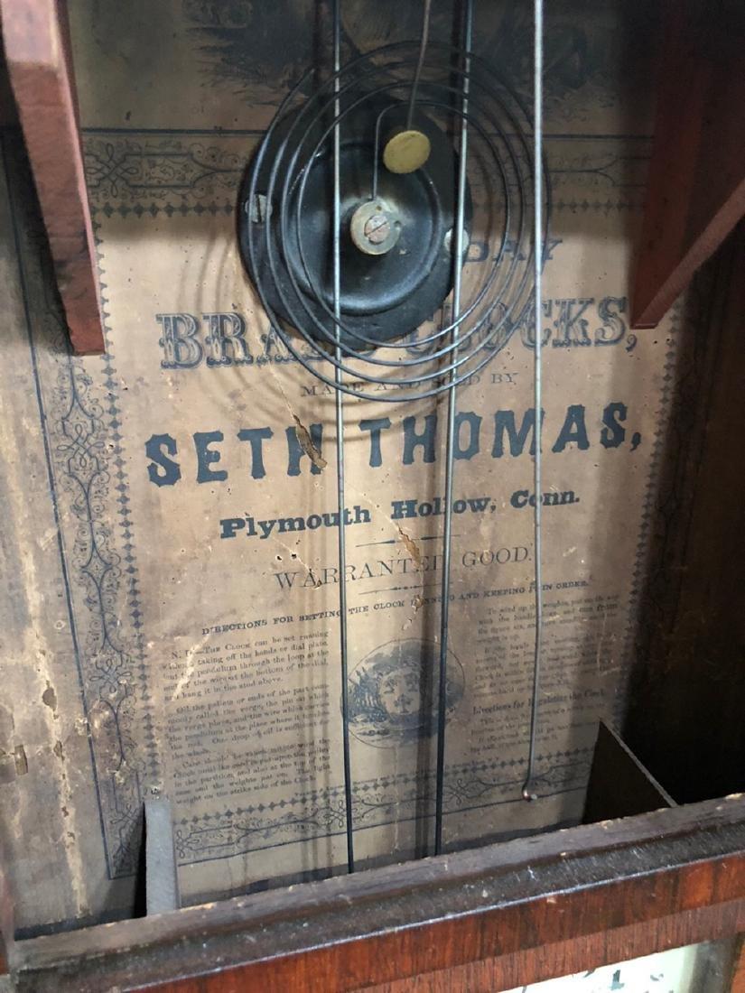 Seth Thomas Double Dial Calender Clock - 3