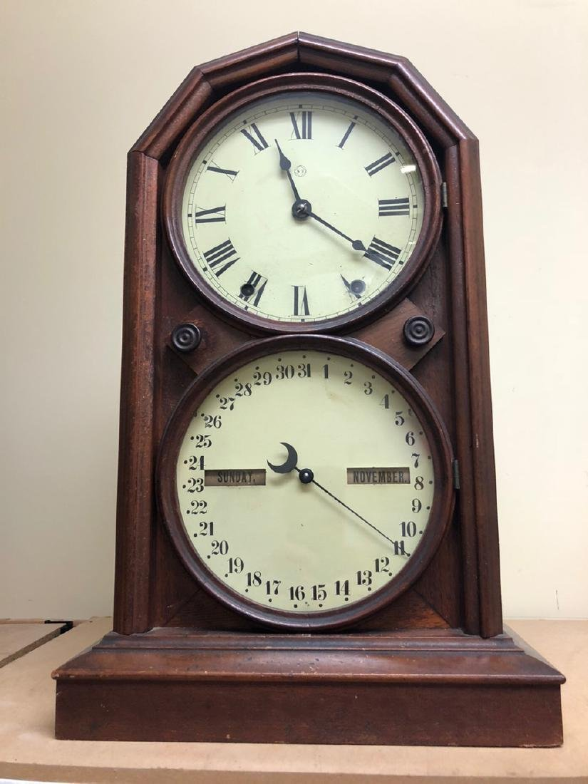 Double Dial Seth Thomas Shelf Clock