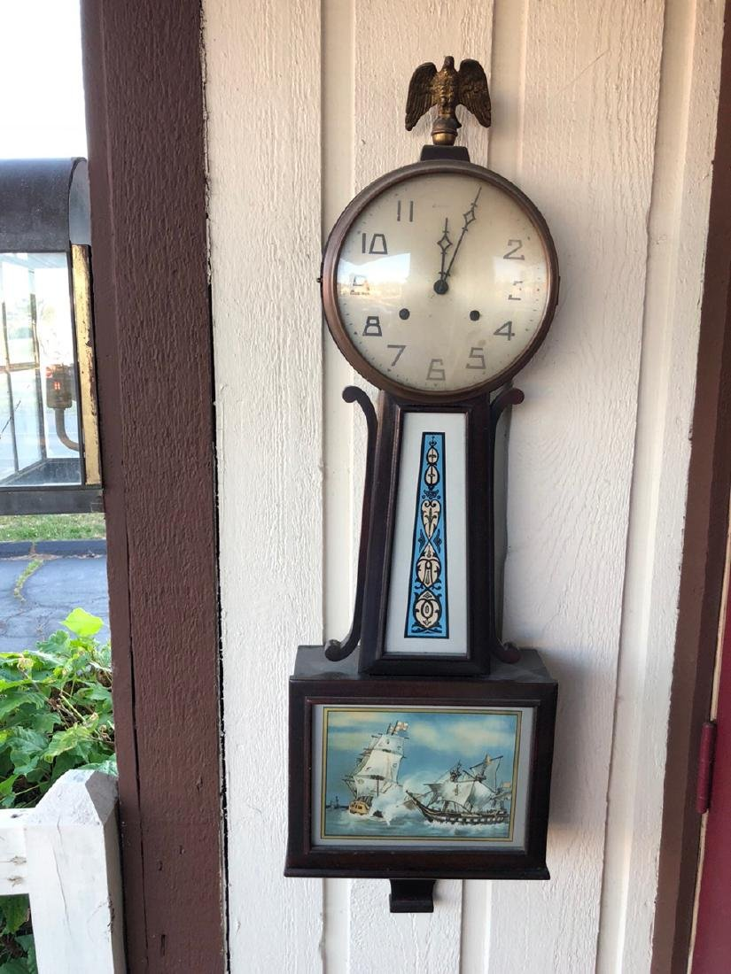 New Haven Clock Co. Banjo Clock