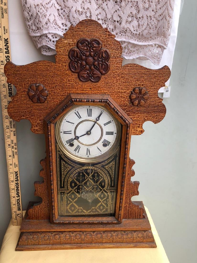 E. Ingraham Co. Gingerbread Clock