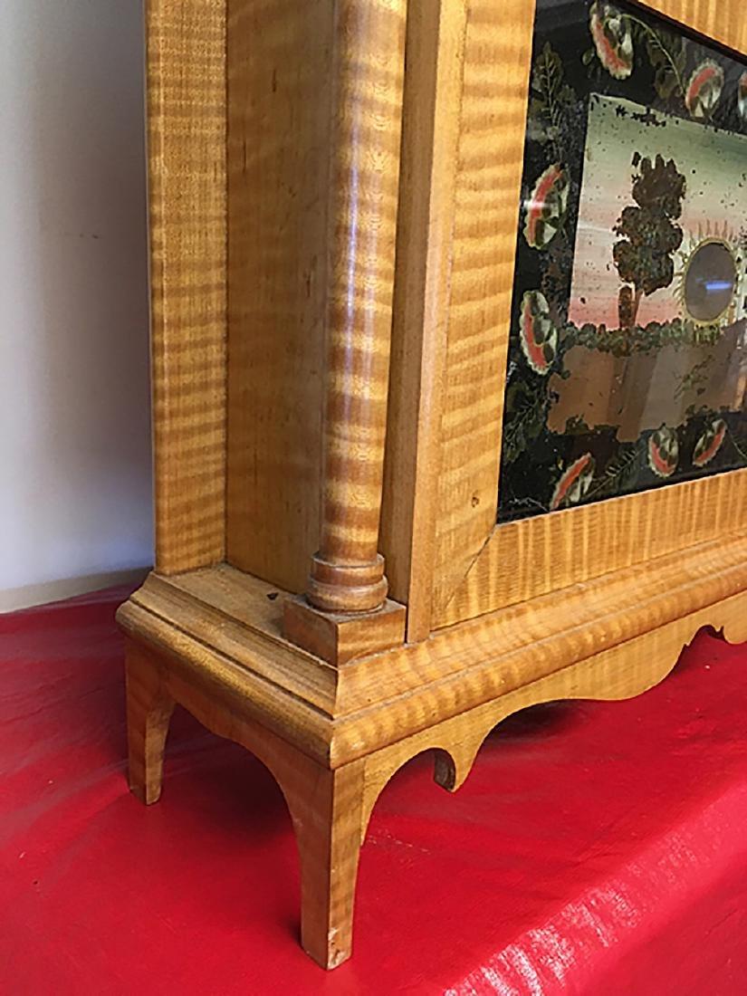 Tiger Maple Pillar and Scroll Clock - 10