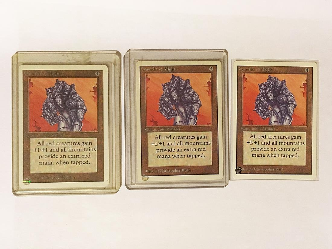 3 MTG Gauntlet of Mights Cards