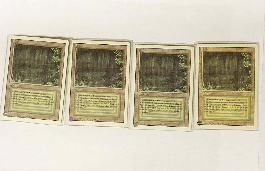 4 MTG Bayou Cards