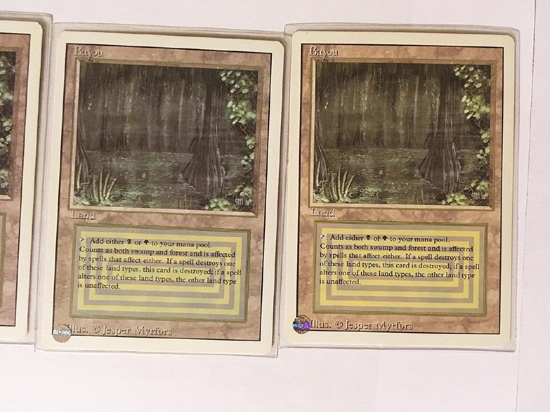 4 MTG Bayou Cards - 3
