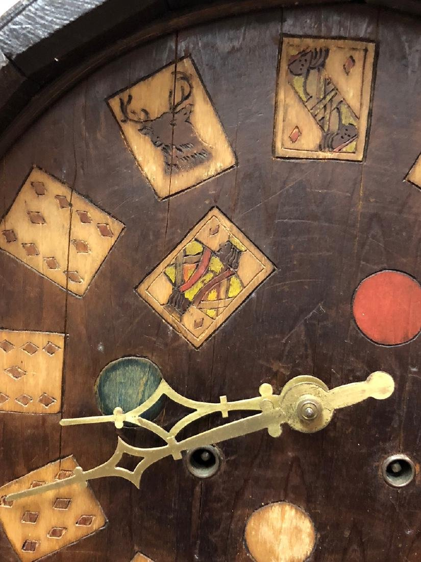 Arts and Crafts Oak Novelty Clock - 2