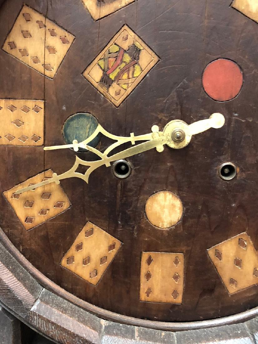 Arts and Crafts Oak Novelty Clock - 3