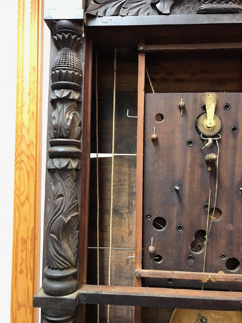 Henry Terry Carved Column Clock - 6
