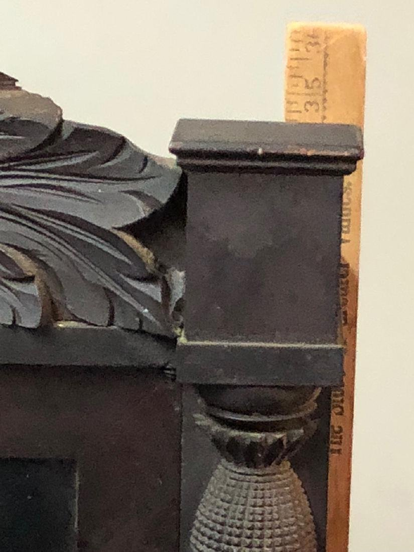 Henry Terry Carved Column Clock - 7