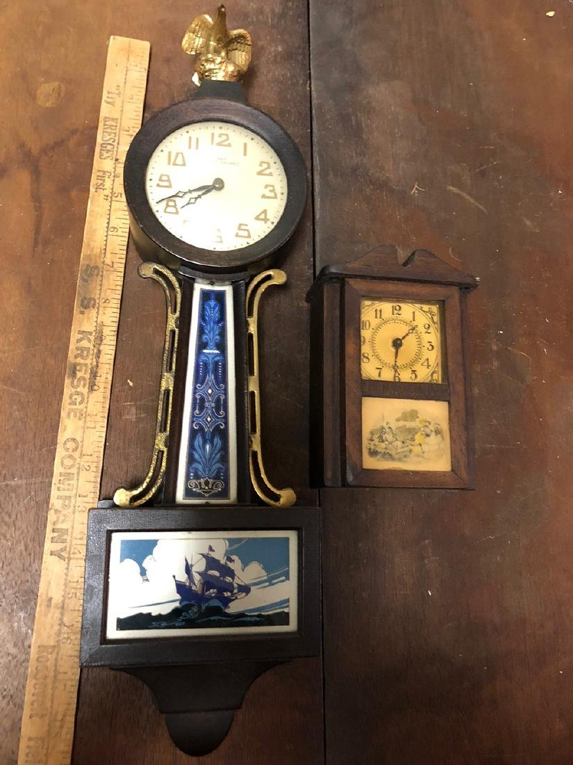 Small Banjo Clock and Miniature Clock