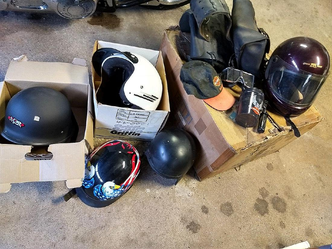 Motor Cycle Helmets & Saddle Bags