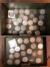 50 US Morgan Silver Dollars