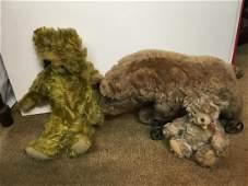 3 Vintage Teddy Bears