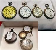 7 Estate Antique Pocket Watches