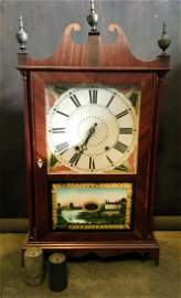Eli Terry Jr. Pillar and Scroll Clock