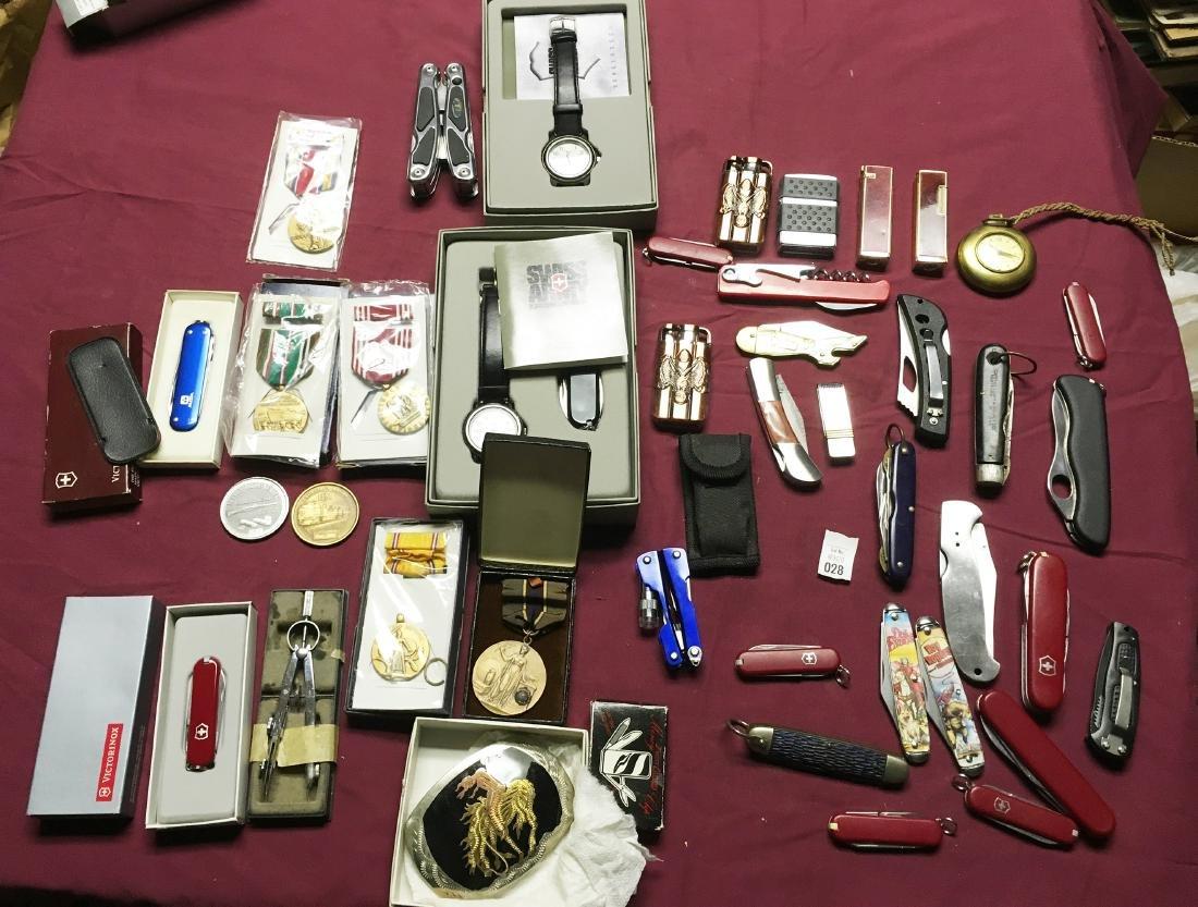Estate Pocket Knives and Medals