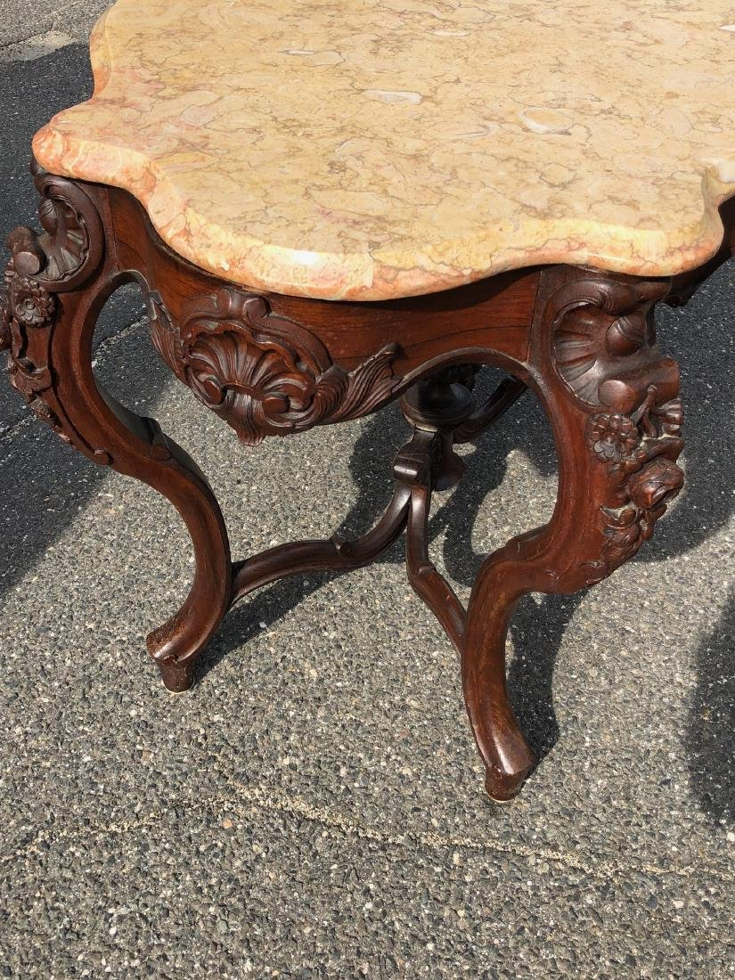 Victorian Rococo Rosewood Parlor Table - 9
