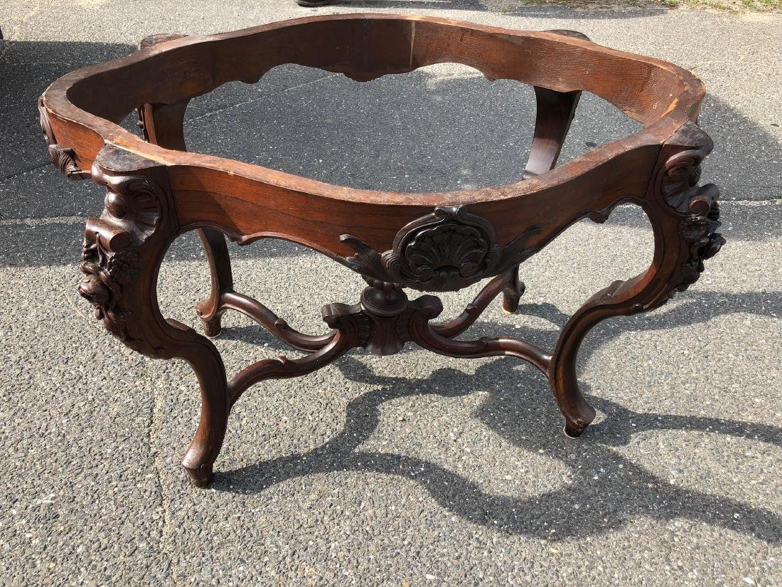 Victorian Rococo Rosewood Parlor Table - 5