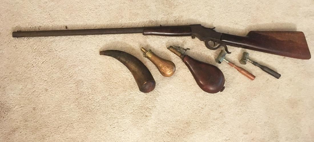Squirrel Gun, Flasks, Powder Horns