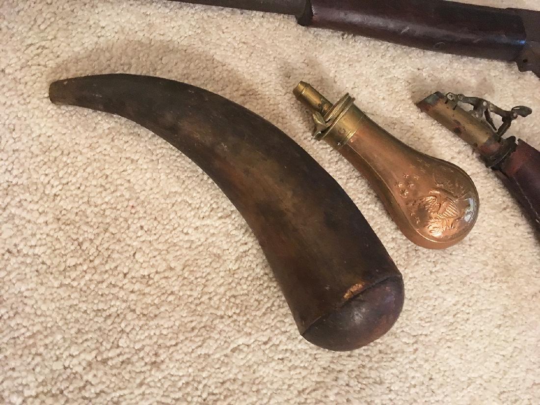 Squirrel Gun, Flasks, Powder Horns - 2