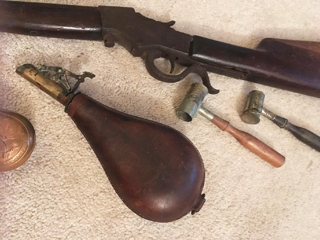 Squirrel Gun, Flasks, Powder Horns - 5
