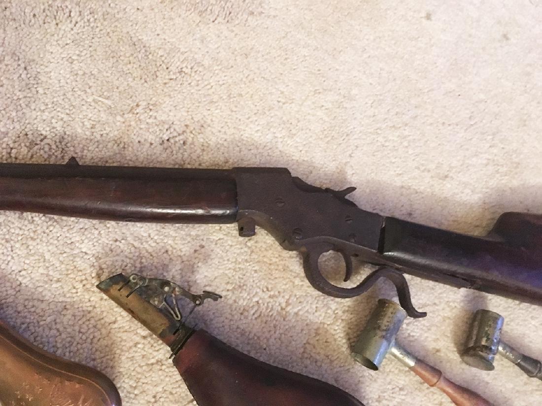 Squirrel Gun, Flasks, Powder Horns - 7