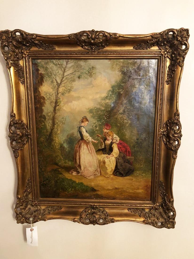 19th Century French Oil Painting, Fargonard