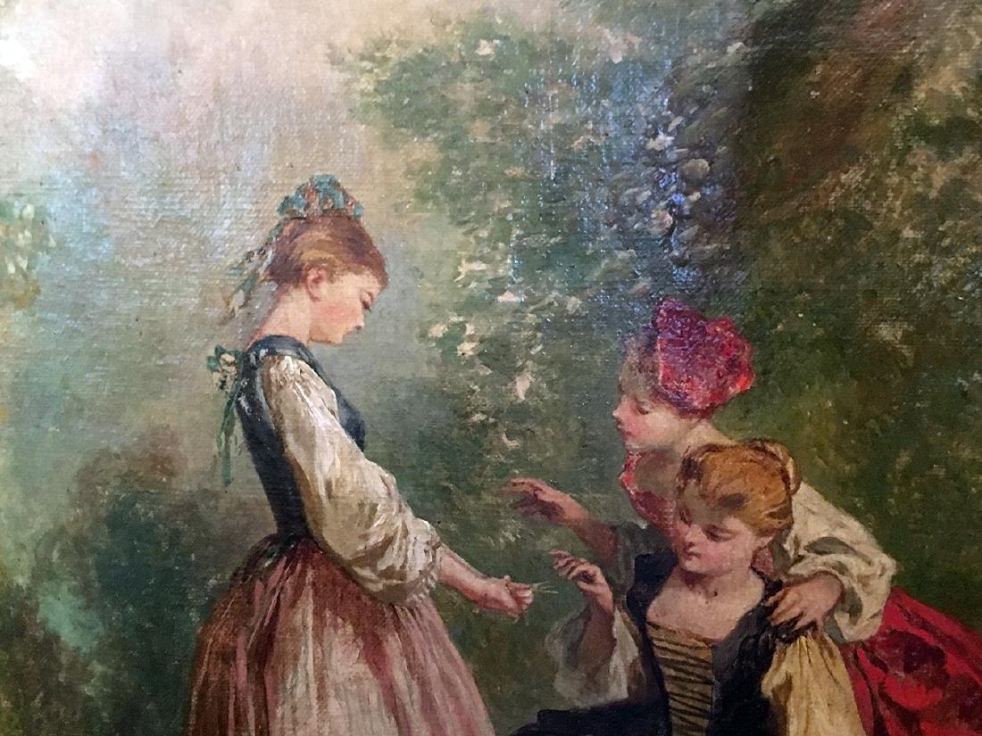 19th Century French Oil Painting, Fargonard - 8