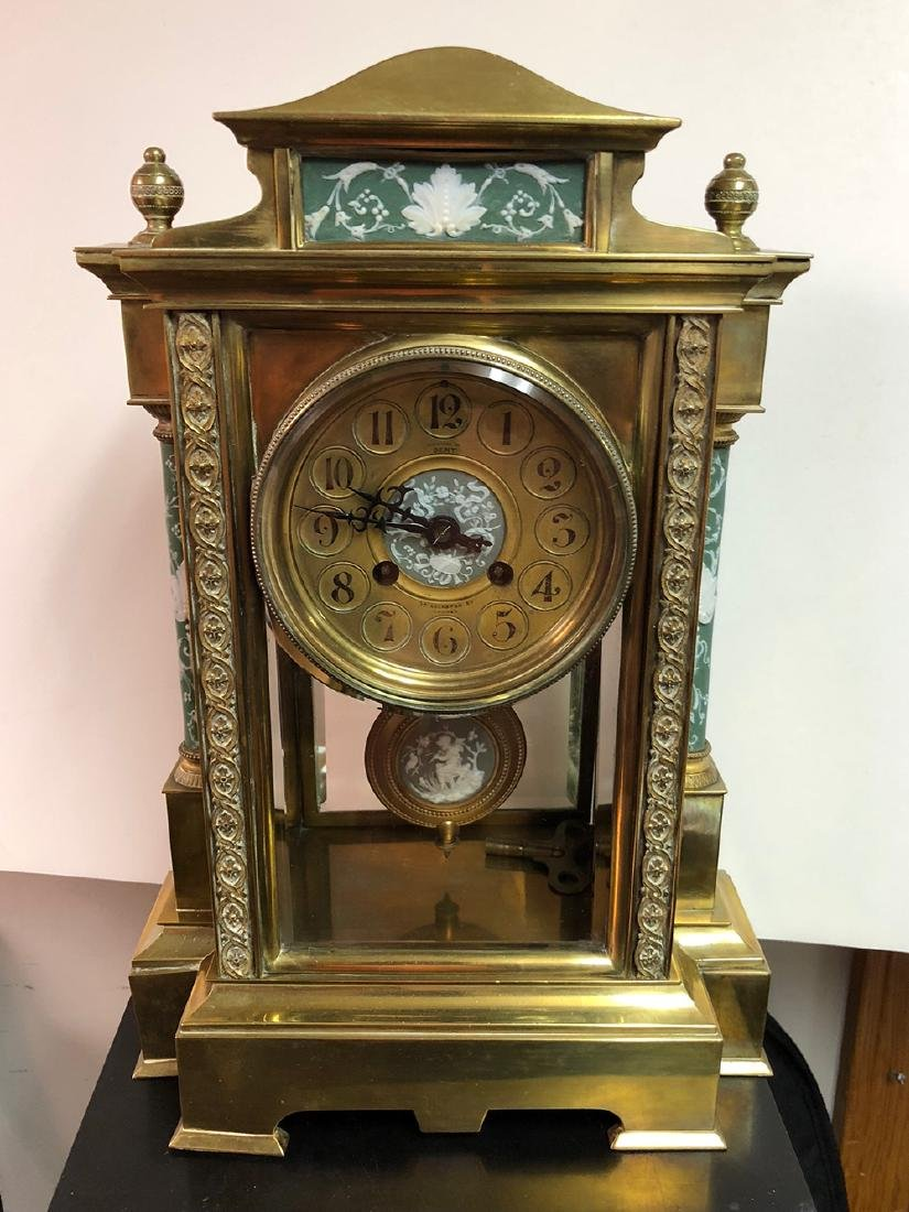 Crystal Japy Freres Regulator Clock with Wedgewood - 10