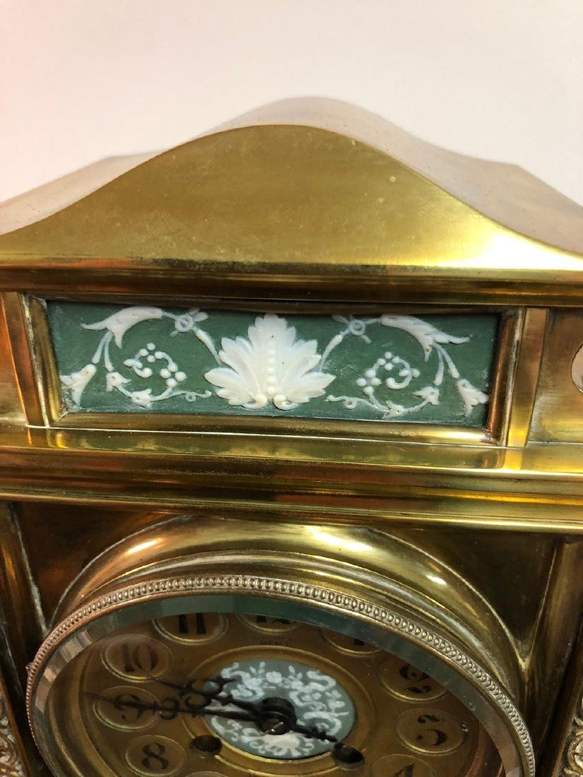 Crystal Japy Freres Regulator Clock with Wedgewood - 2