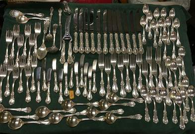 Reed & Barton Burgundy Sterling Silver Flatware Set