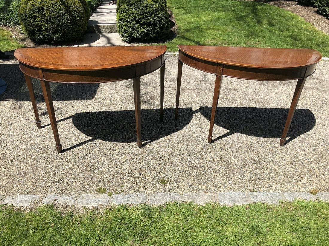 2 Matching English Demilune Tables
