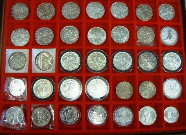 6: Collection of 35 silver coins