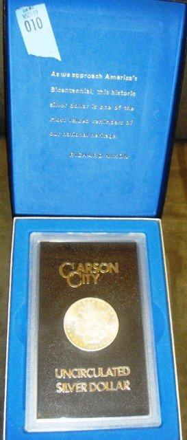 10: 1884 Carson City Uncirculated Silver Dollar