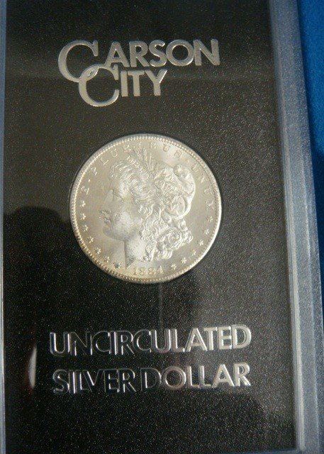 11: 1884 Carson City Uncirculated Silver Dollar