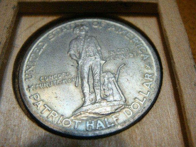 12: 1925 Silver Half Dollar Lexington-Concord Sesquicen
