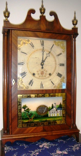 18: Eli Terry & Sons Pillar & Scroll Shelf Clock